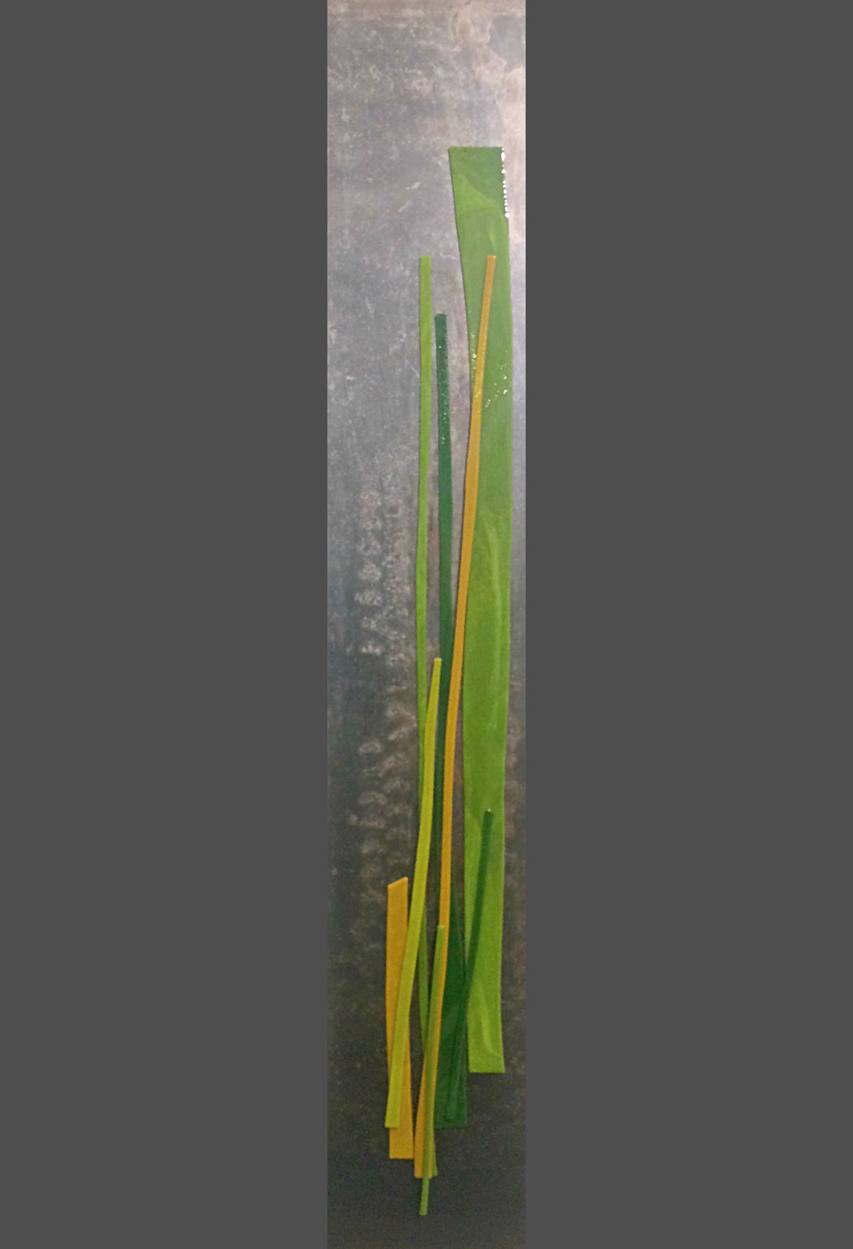 River Flow 1, cast glass by Heather Cuell | Effusion Art Gallery + Cast Glass Studio, Invermere BC