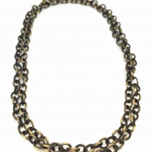 Antique Brass and Bronze Chain Necklace by Karyn Chopik | Effusion Art Gallery + Cast Glass Studio, Invermere BC