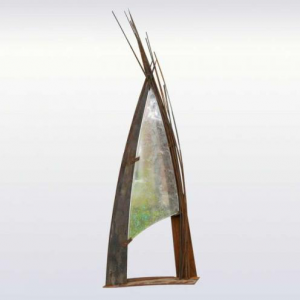 Heather Cuell Columbia Flow Cast Glass Sculpture