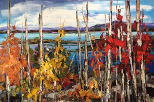 What Will You Leave Behind? Landscape painting by Kimberly Kiel | Effusion Art Gallery + Cast Glass Studio, Invermere BC