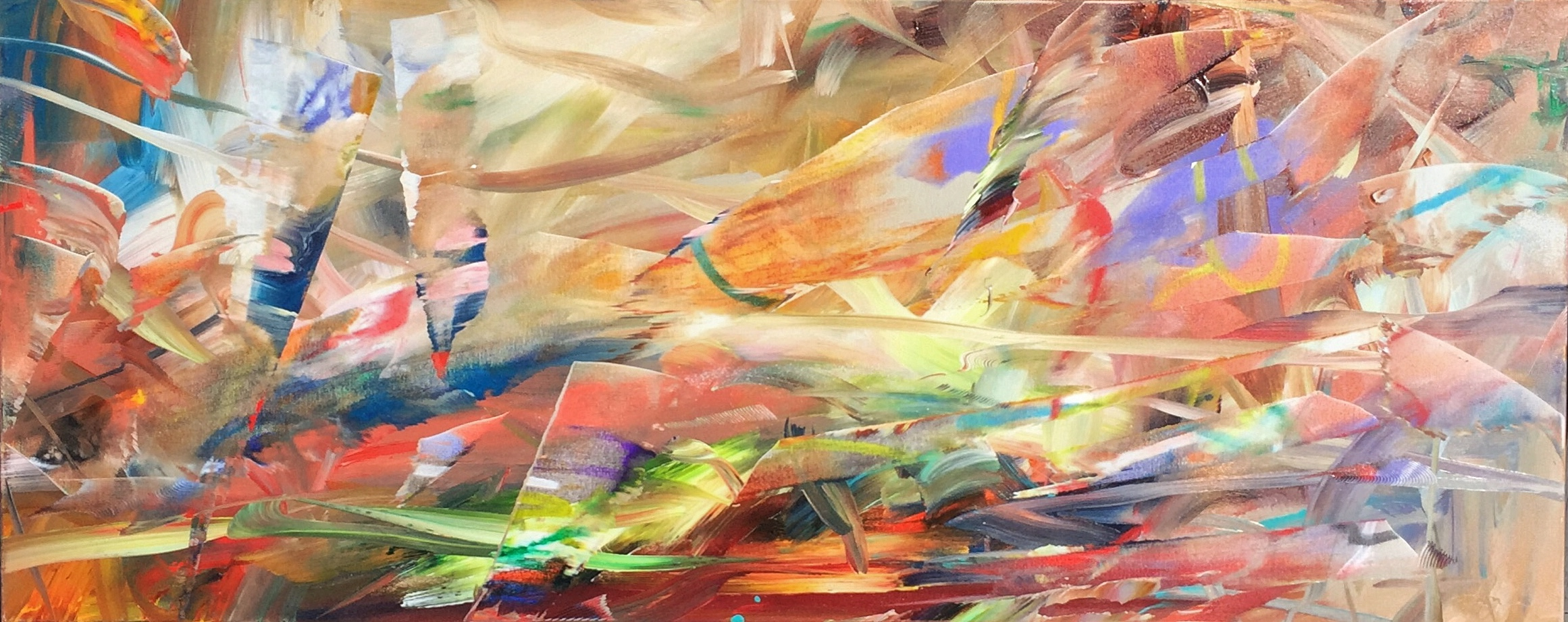 Coastal Splash, mixed media painting by Joel Masewich | Effusion Art Gallery + Cast Glass Studio, Invermere BC