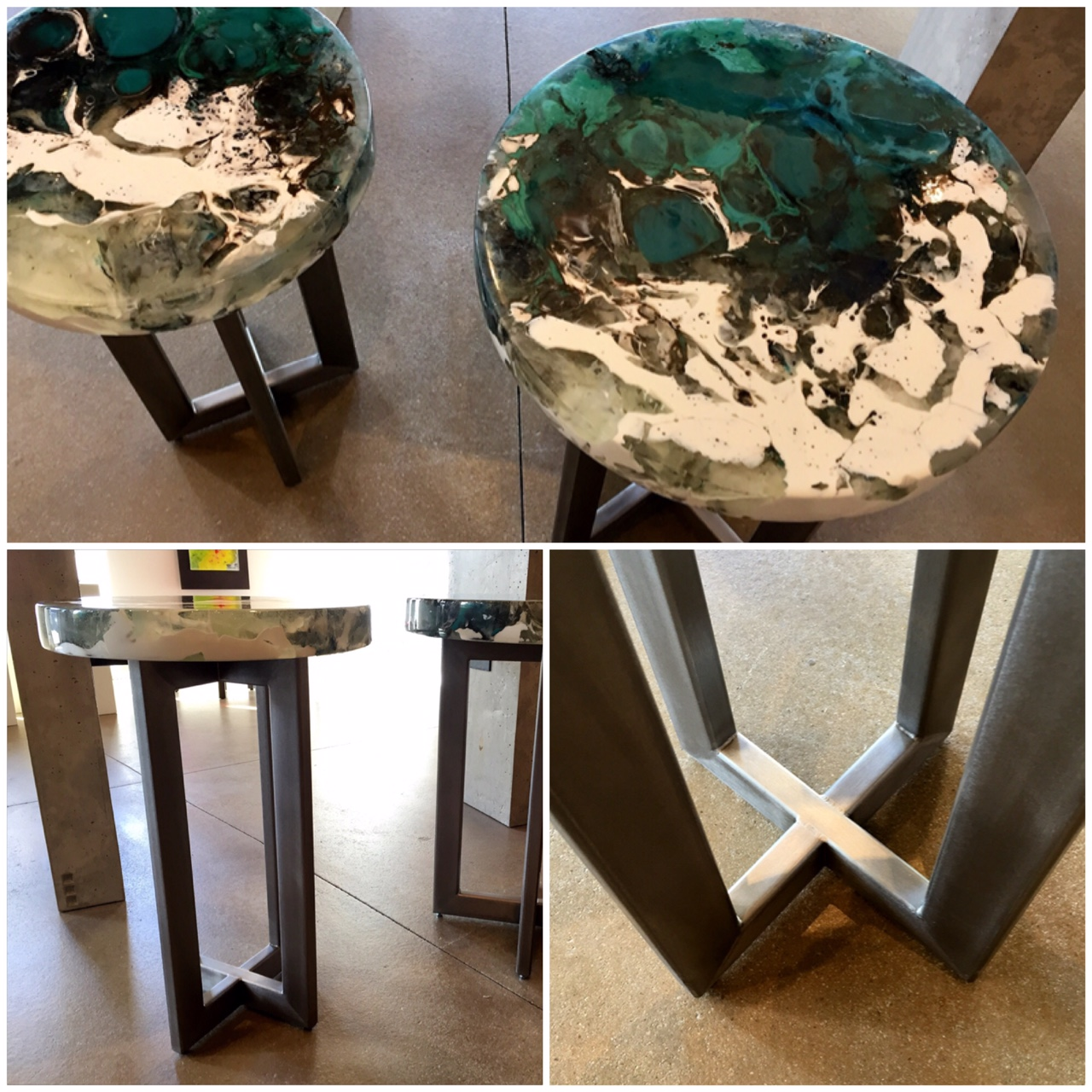 Cuell.Winter Flow 1 and 2 Side Tables