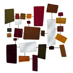 Autumn Tones Cast Glass Mosaic, Heather Cuell