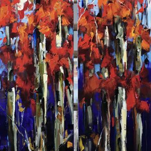 Acres of Elbow Room, oil painting by Kimberly Kiel | Effusion Art Gallery + Cast Glass Studio, Invermere BC