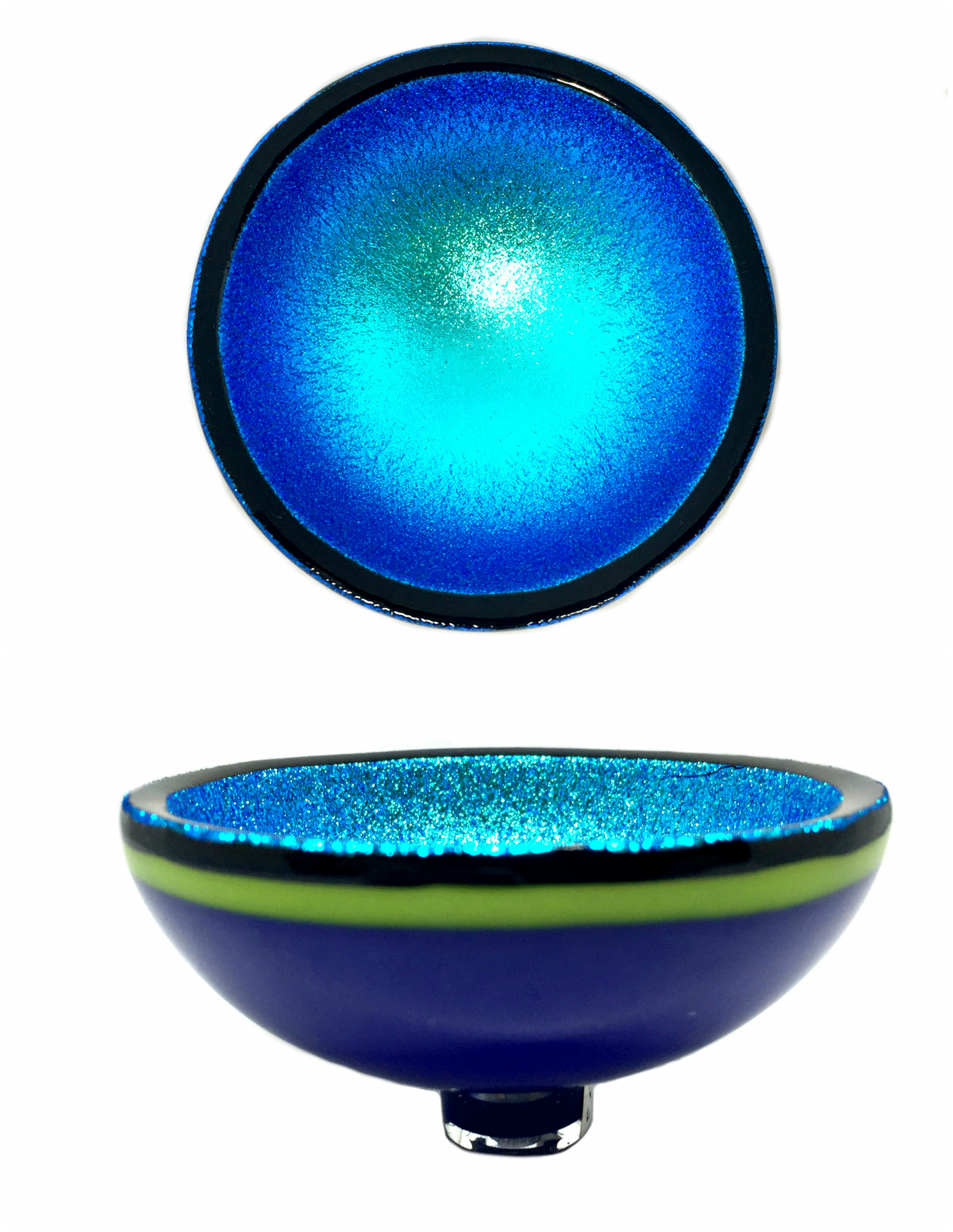 Thing of Beauty 1251 glass bowl by Jo Ludwig | Effusion Art Gallery + Cast Glass Studio, Invermere BC