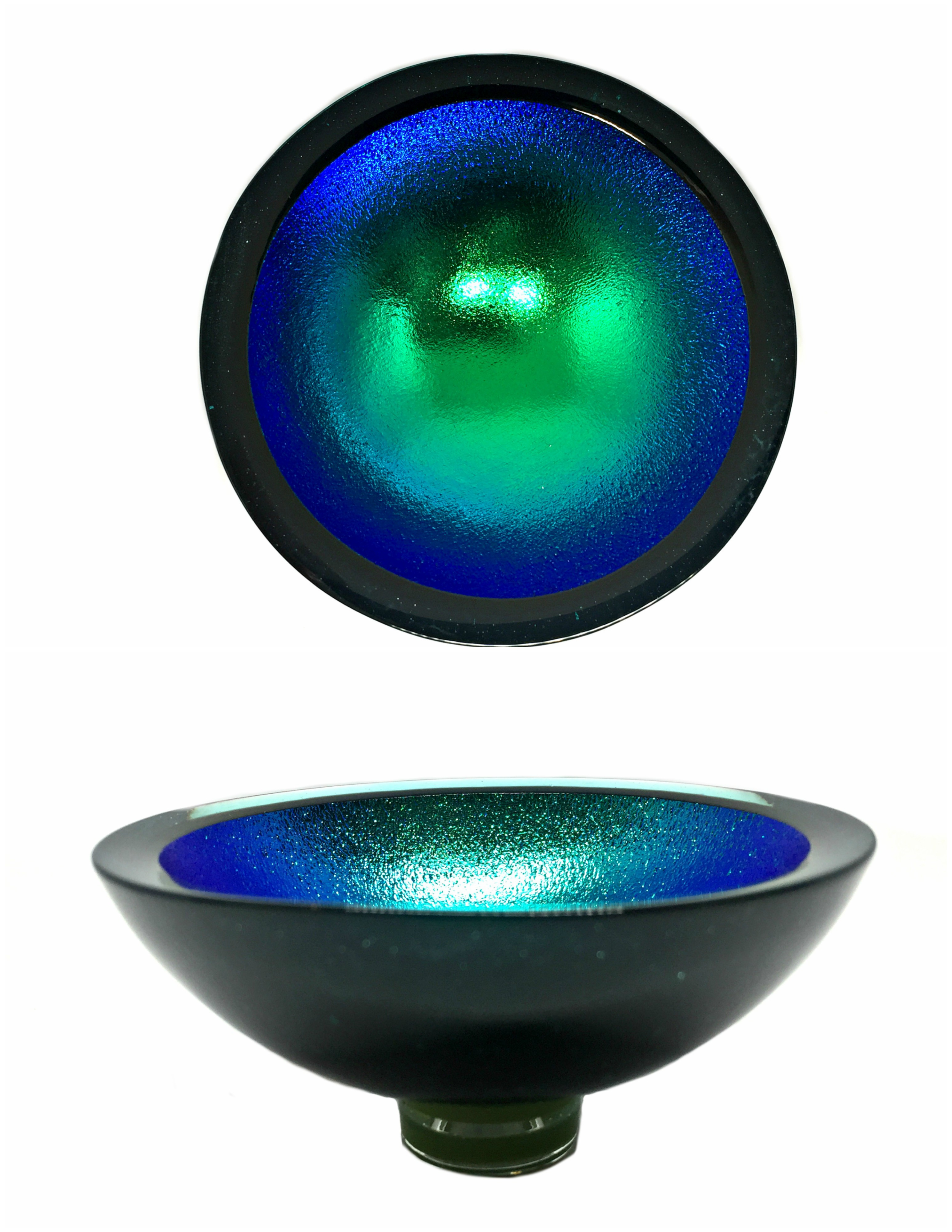 Thing of Beauty 3325 glass bowl by Jo Ludwig | Effusion Art Gallery + Cast Glass Studio, Invermere BC