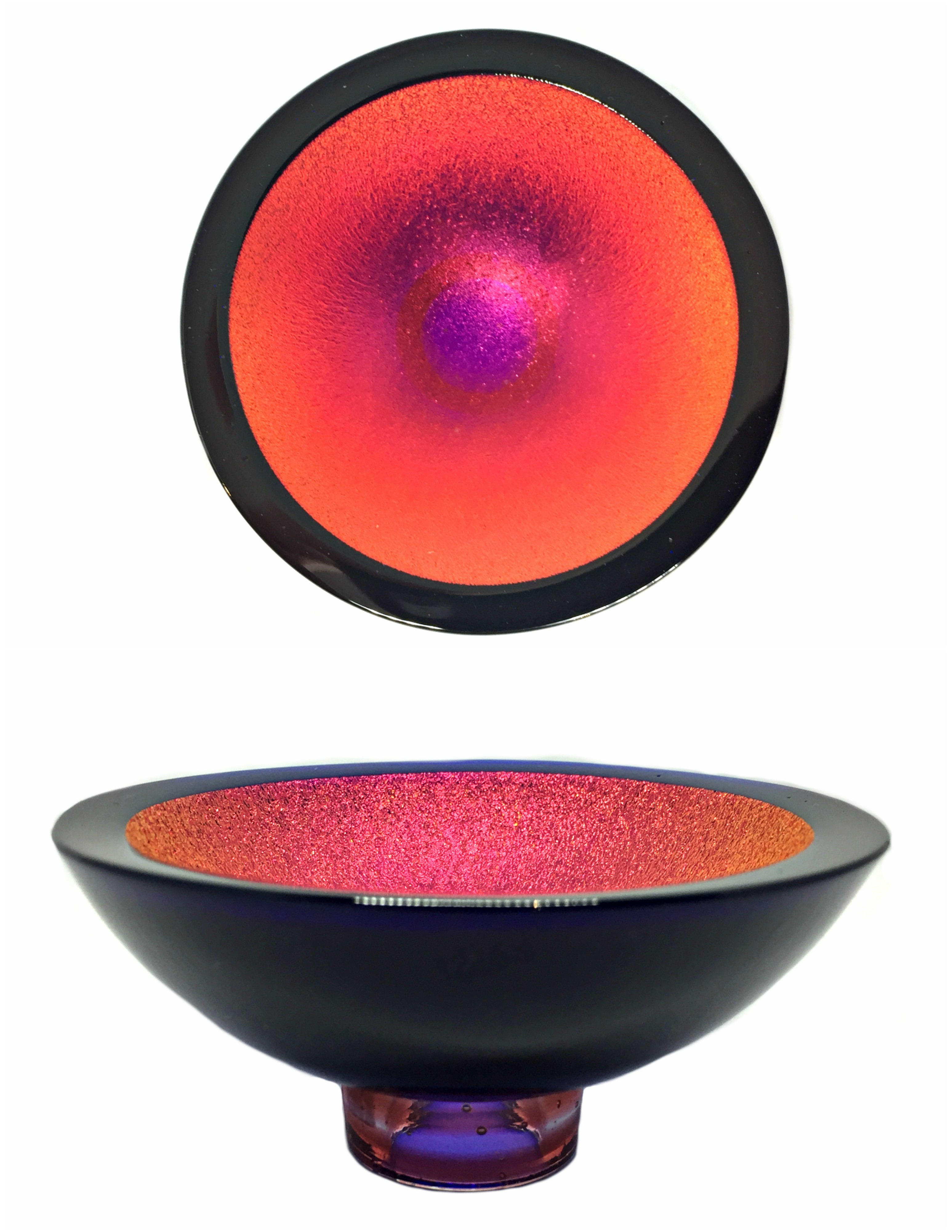 Thing of Beauty 3329 glass bowl by Jo Ludwig | Effusion Art Gallery + Cast Glass Studio, Invermere BC