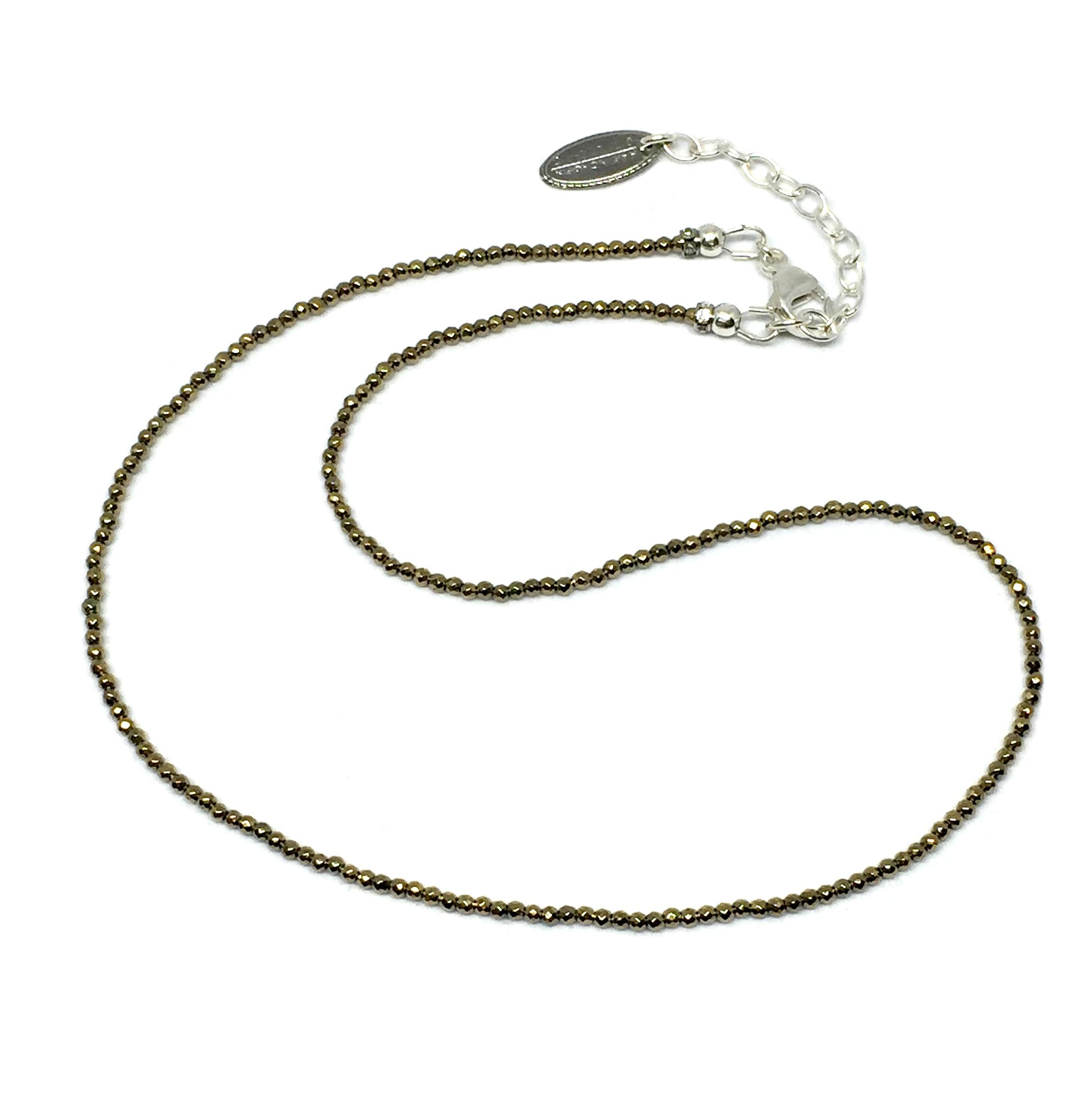 Gold hematite sparkle necklace by Karyn Chopik | Effusion Art Gallery + Cast Glass Studio, Invermere BC