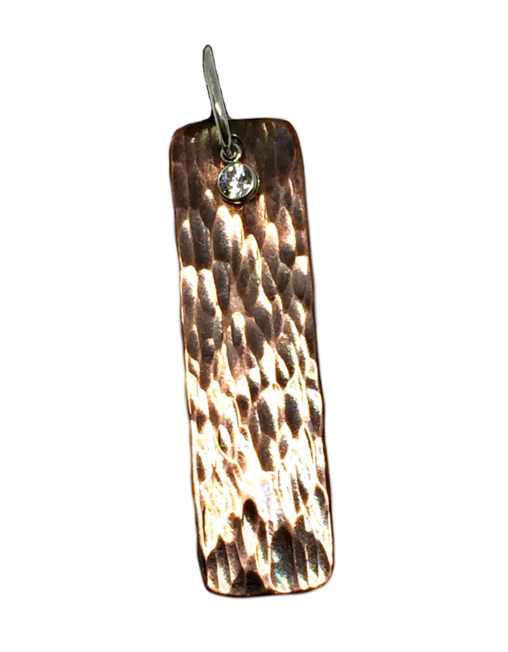 Copper, sterling silver, and CZ Karyn Chopik pendant | Effusion Art Gallery + Cast Glass Studio, Invermere BC