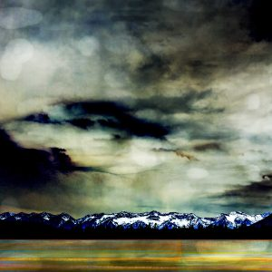 Spring Storm, mixed media painting by Jillaine Jurchuk| Effusion Art Gallery + Cast Glass Studio, Invermere BC