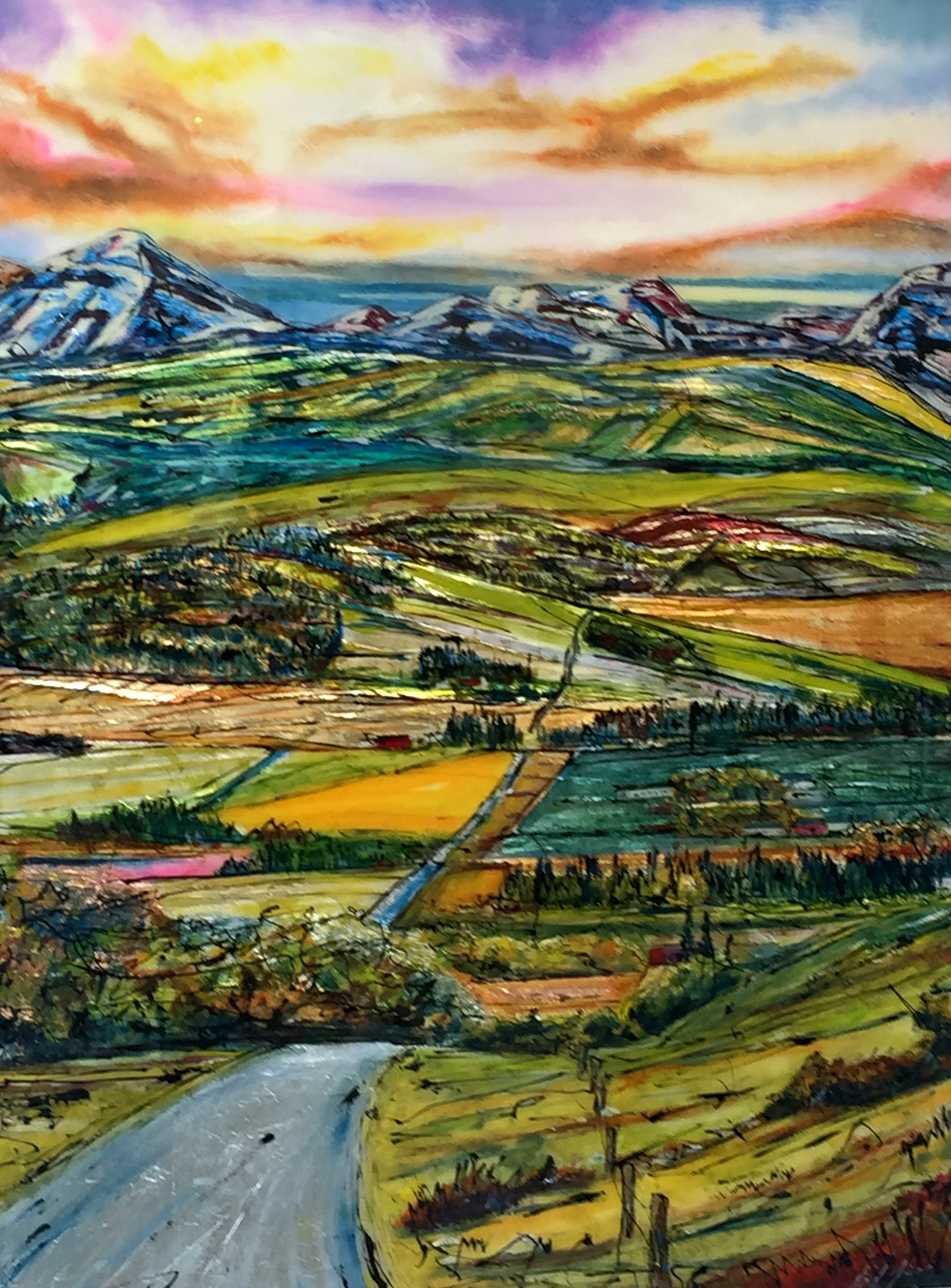 Stairway Too...  mixed media landscape painting by David Zimmerman | Effusion Art Gallery + Cast Glass Studio, Invermere BC