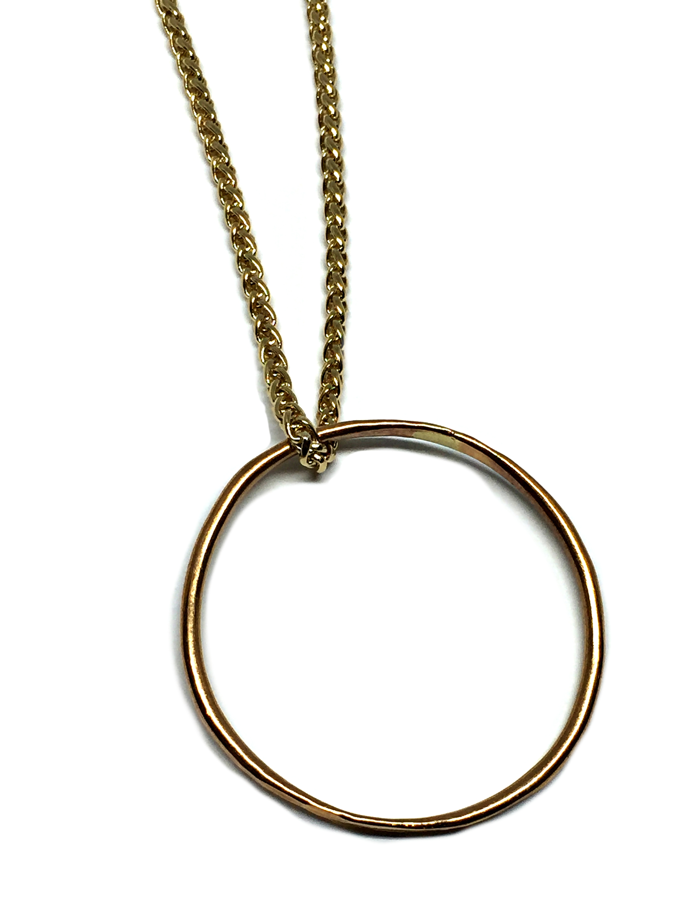 Bronze Sculpted Ring Pendant by Karyn Chopik | Effusion Art Gallery + Cast Glass Studio, Invermere BC