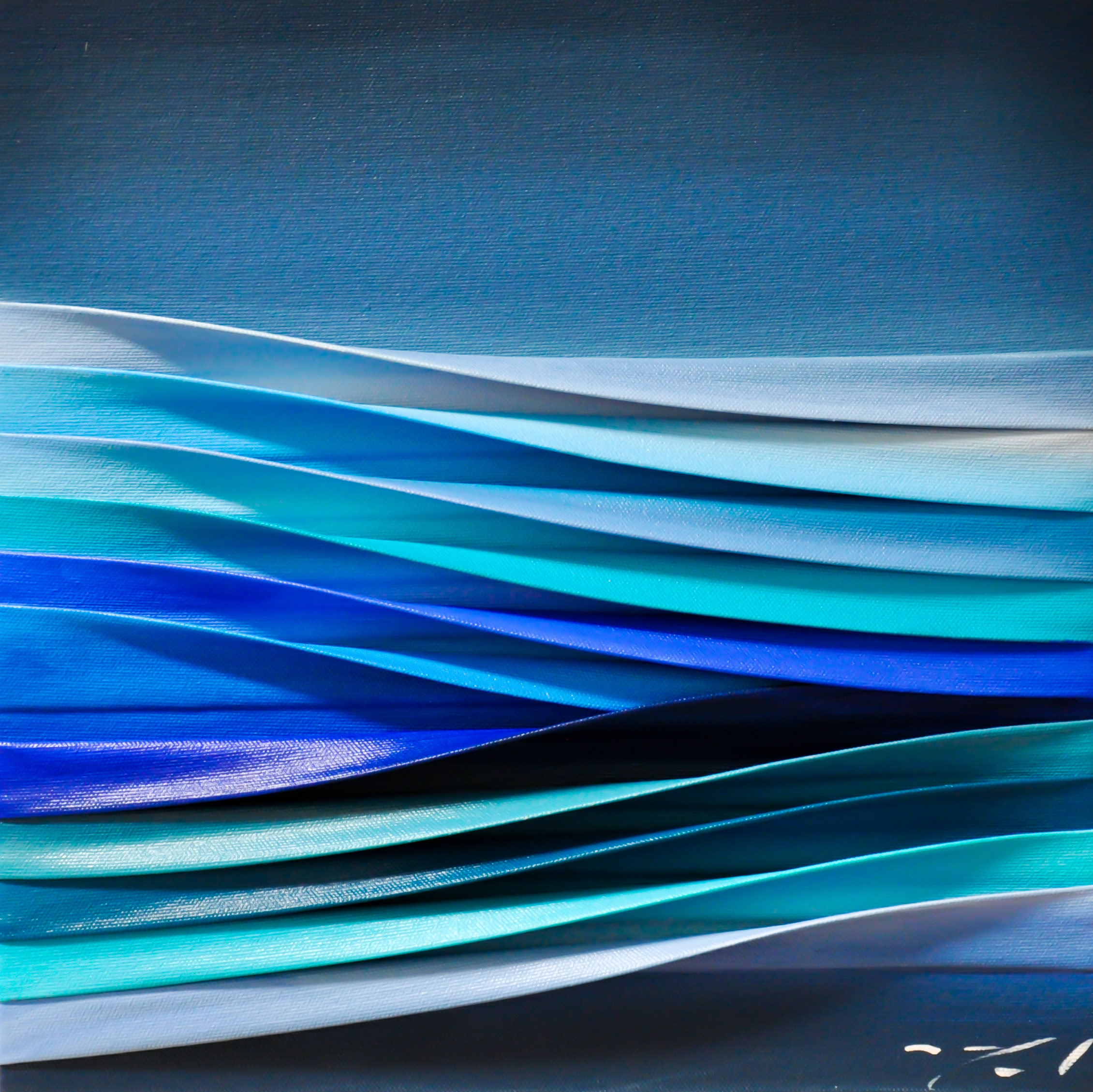 Ces Silences, mixed media 3-D painting by Melanie Giguere | Effusion Art Gallery + Cast Glass Studio, Invermere BC