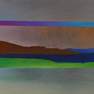 Foothills Window 2, acrylic painting by Joel Masewich | Effusion Art Gallery + Cast Glass Studio, Invermere BC