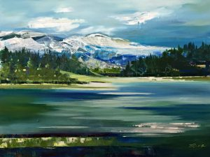 Heartland 2, acrylic painting by Valeria Mravyan | Effusion Art Gallery + Cast Glass Studio, Invermere BC