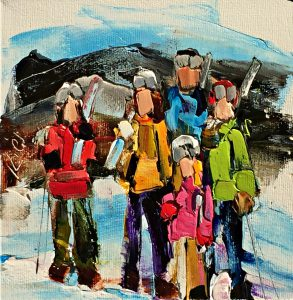 Winter Whites 3, oil painting by Kimberly Kiel | Effusion Art Gallery + Cast Glass Studio, Invermere BC