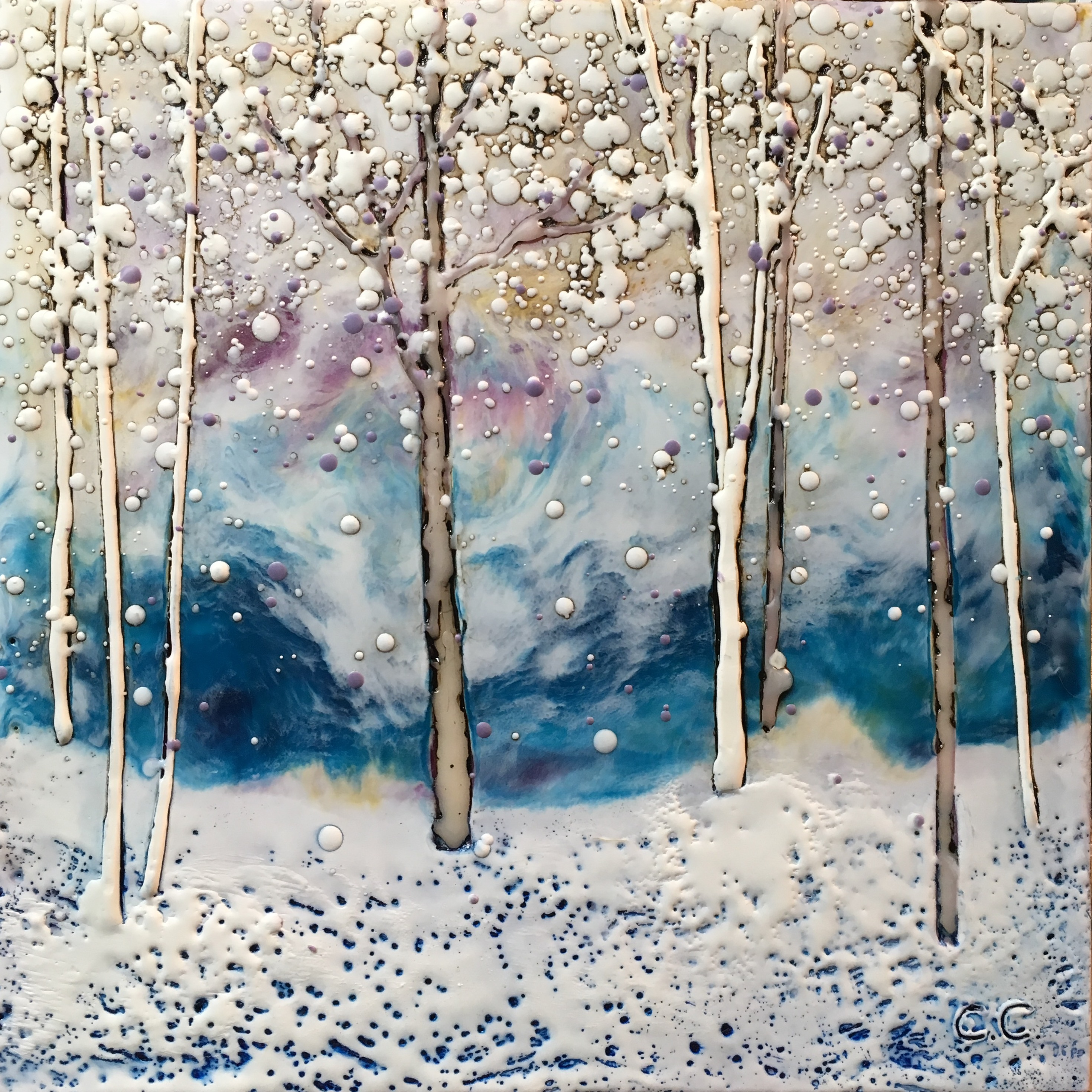 Renewed Confidence, encaustic painting by Catharine Clarke | Effusion Art Gallery + Cast Glass Studio, Invermere BC