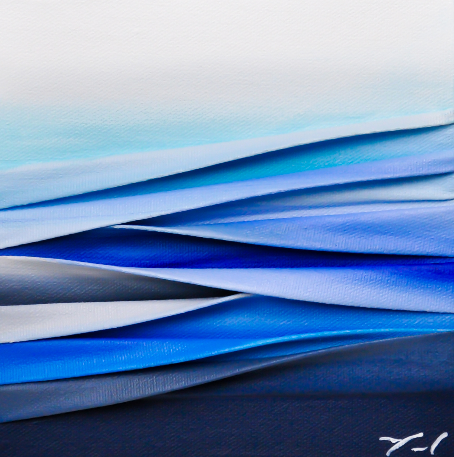 Ces jours blancs, mixed media painting by Melanie Giguere | Effusion Art Gallery + Cast Glass Studio, Invermere BC