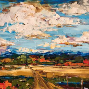 Exactly Where You Wish to Be, landscape oil painting by Kimberly Kiel | Effusion Art Gallery + Cast Glass Studio, Invermere BC