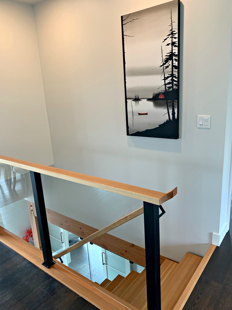 Slowly Passing Time by Natasha Miller installed in its beautiful new home | Effusion Art Gallery + Cast Glass Studio, Invermere BC