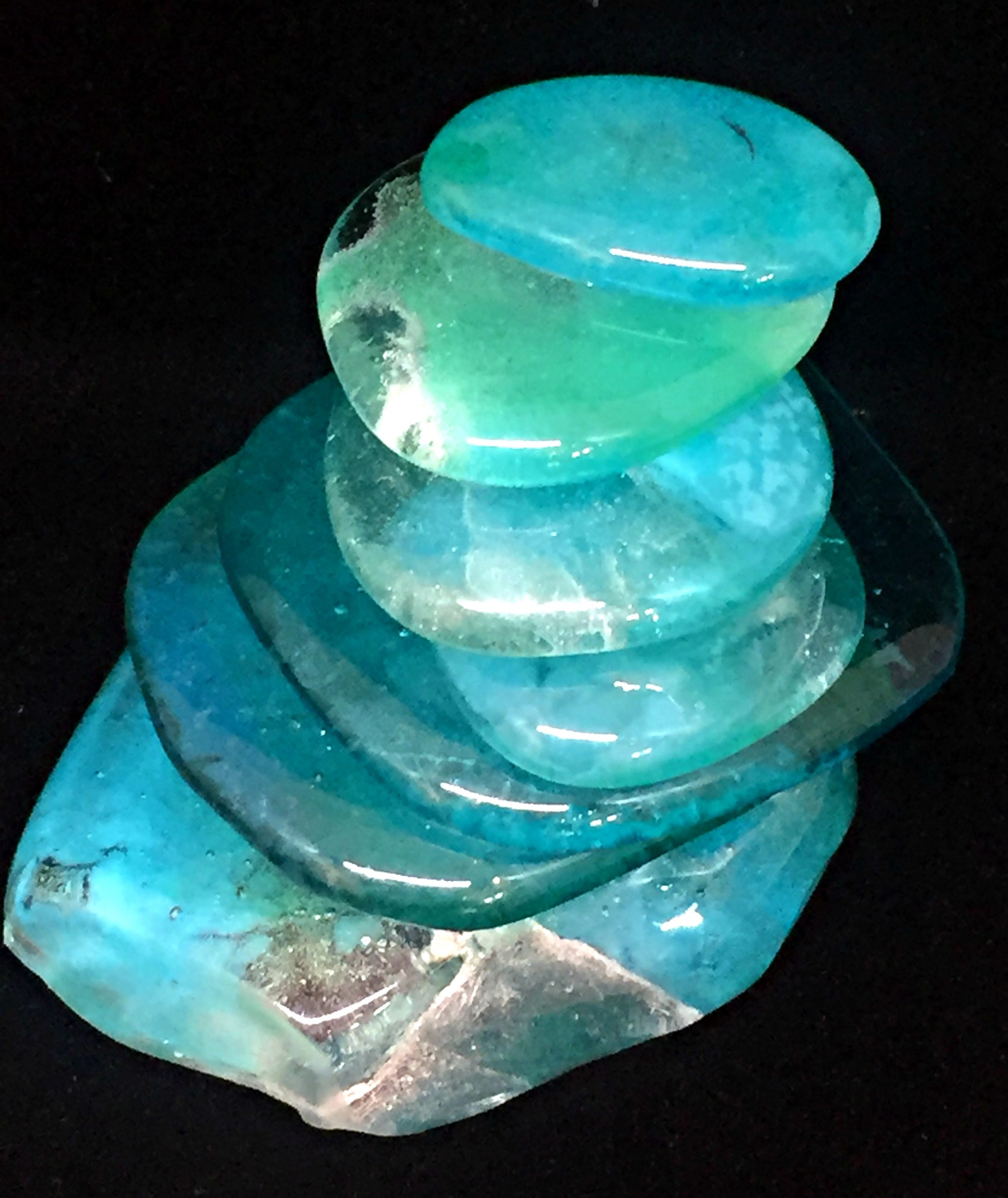 Cast Glass Rocky Mountain Cairn 3 sculpture by Heather Cuell | Effusion Art Gallery + Cast Glass Studio, Invermere BC