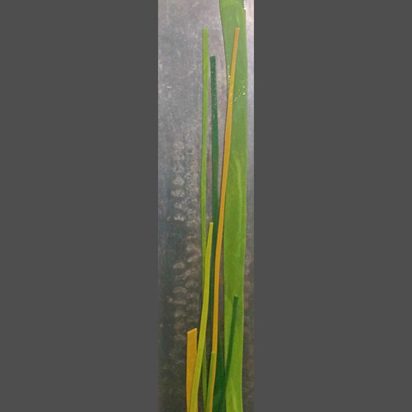 River Flow 1, cast glass by Heather Cuell   Effusion Art Gallery + Cast Glass Studio, Invermere BC