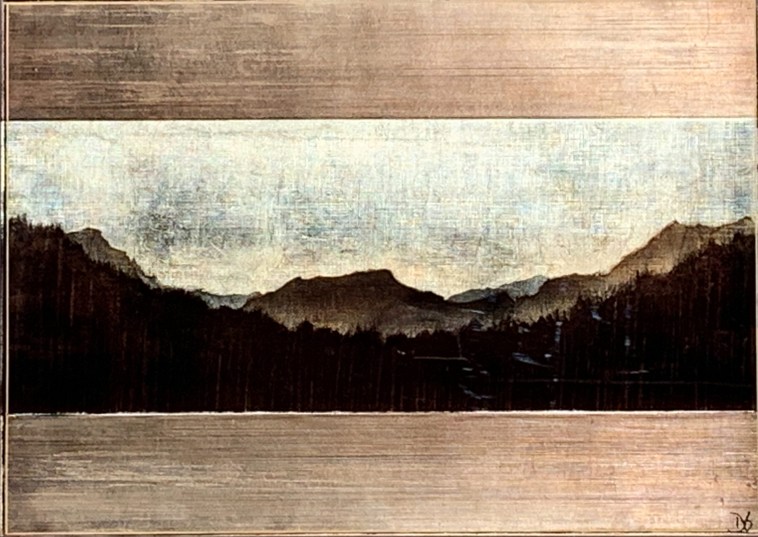 Into the Wild, mixed media landscape painting by David Graff | Effusion Art Gallery + Cast Glass Studio, Invermere BC