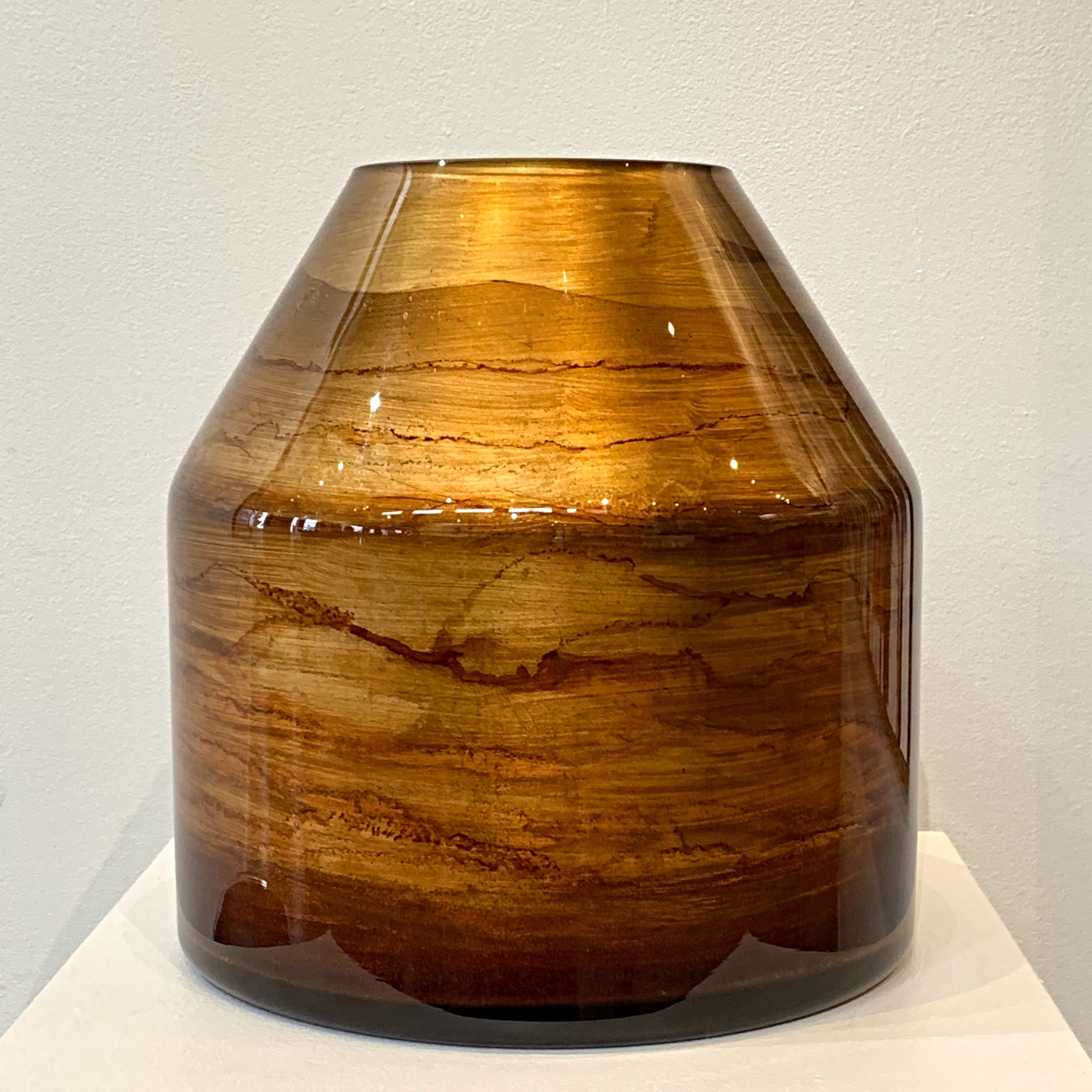 Large gold vase, hand gilded by David Graff | Effusion Art Gallery + Cast Glass Studio, Invermere BC
