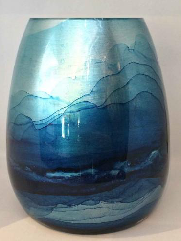 Graff.Blue Teardrop Vase