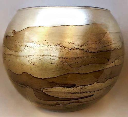 Graff.Large Bubble Bowl Copper