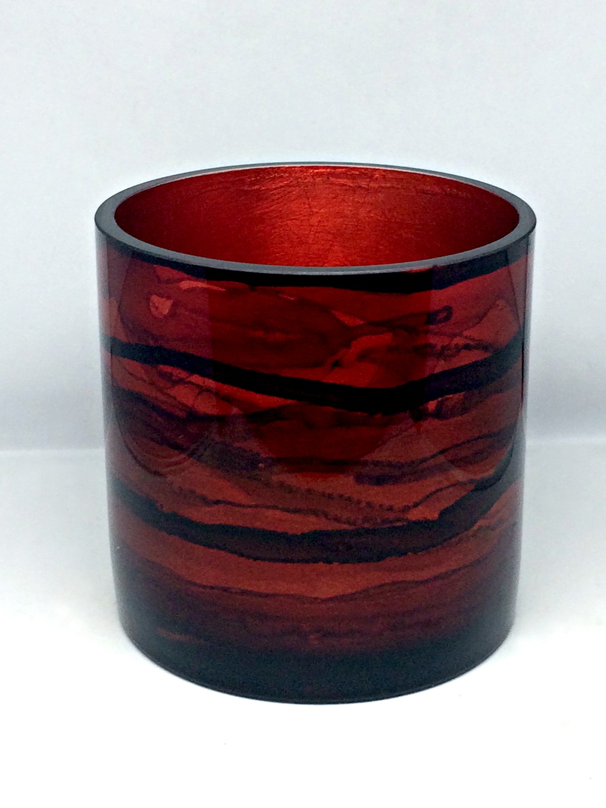 Graff.Small Cylindrical Vase Red