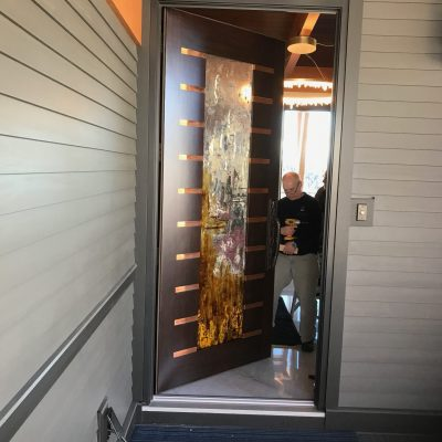 Cast glass door by Heather Cuell | Effusion Art Gallery + cast Glass Studio, Invermere BC