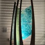 Reflections, public art sculpture by Heather Cuell in Canmore AB   Effusion Art Gallery + Cast Glass Studio, Invermere BC