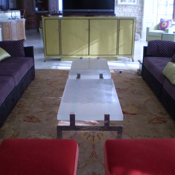 Custom Cast Glass Coffee Table by Heather Cuell