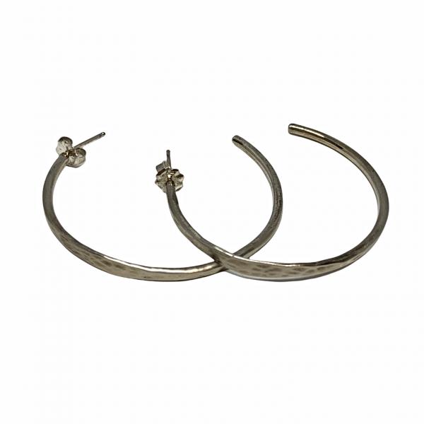 Handmade sterling silver earrings by Karyn Chopik | Effusion Art Gallery + Cast Glass Studio, Invermere BC
