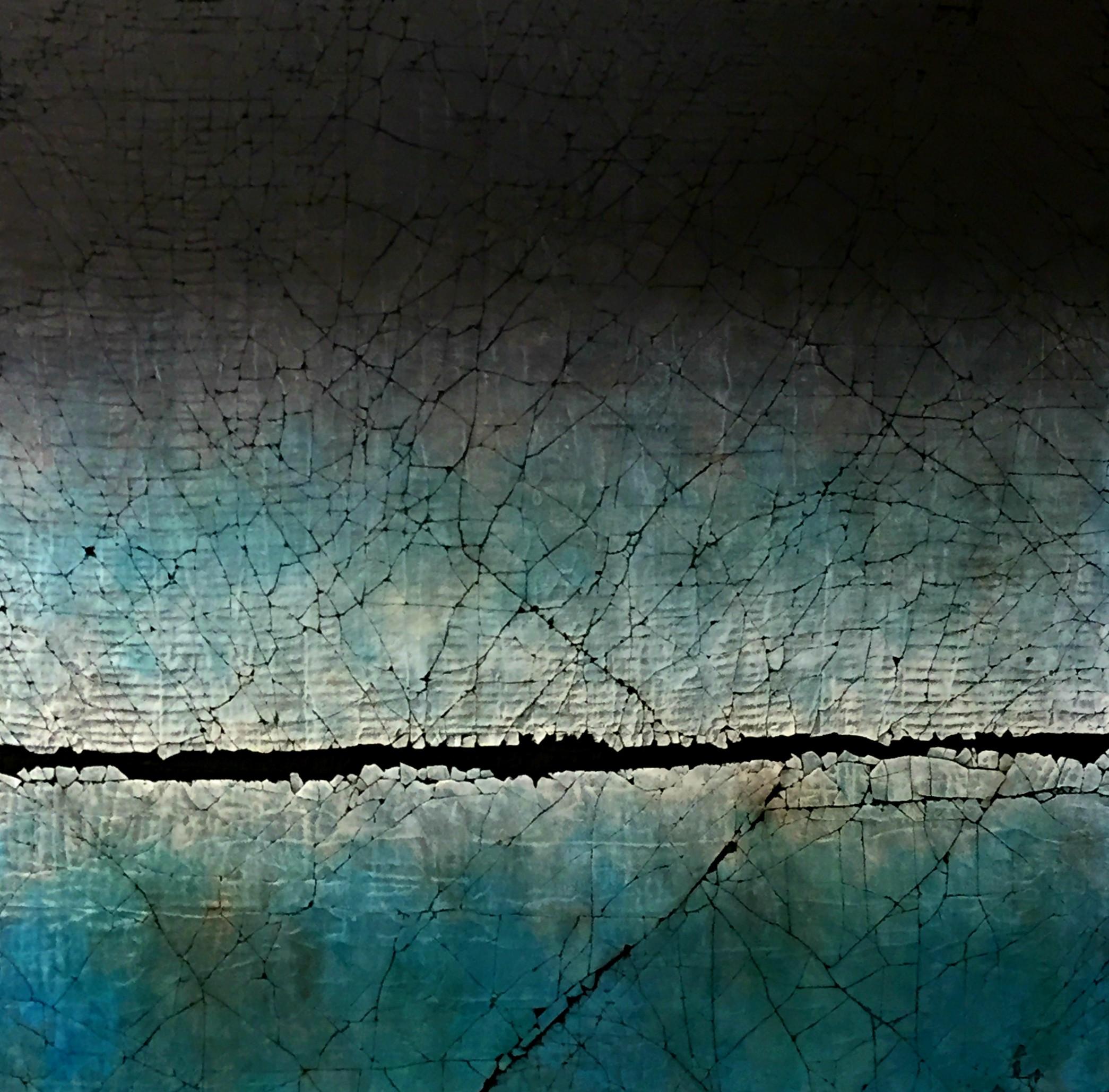 Serenity, mixed media by Karen Bagayawa | Effusion Art Gallery + Cast Glass Studio, Invermere BC