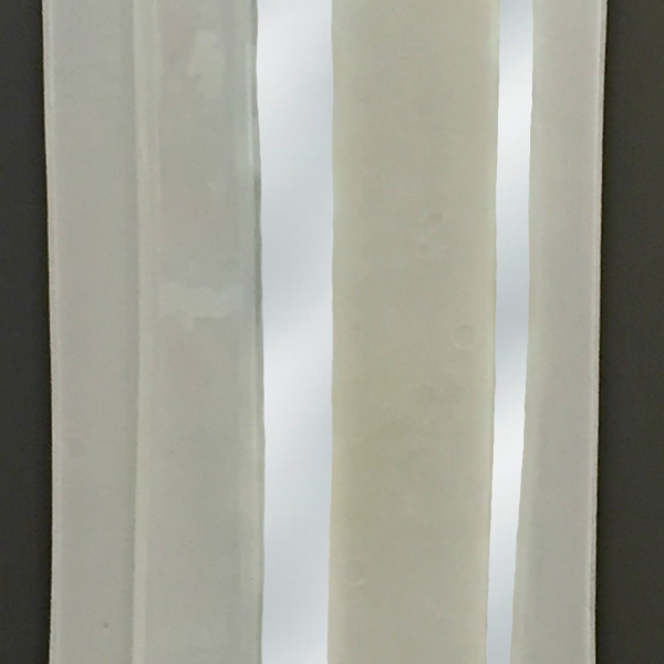 Reflections 1, cast glass mirror by Heather Cuell   Effusion Art Gallery + Cast Glass Studio