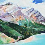Shades, acrylic painting by Sarinah Haba | Effusion Art Gallery + Cast Glass Studio, Invermere BC