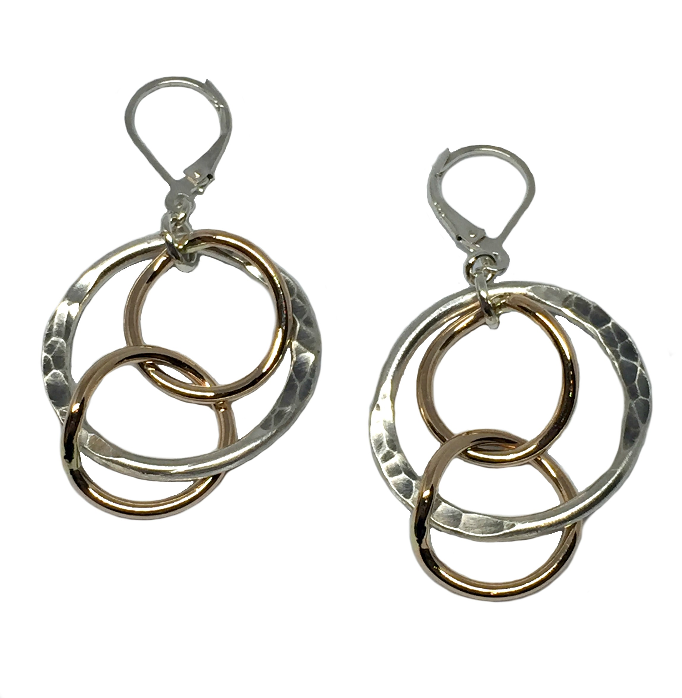 Karyn Chopik Sterling Silver and Bronze Earrings | Effusion Art Gallery + Cast Glass Studio, Invermere BC