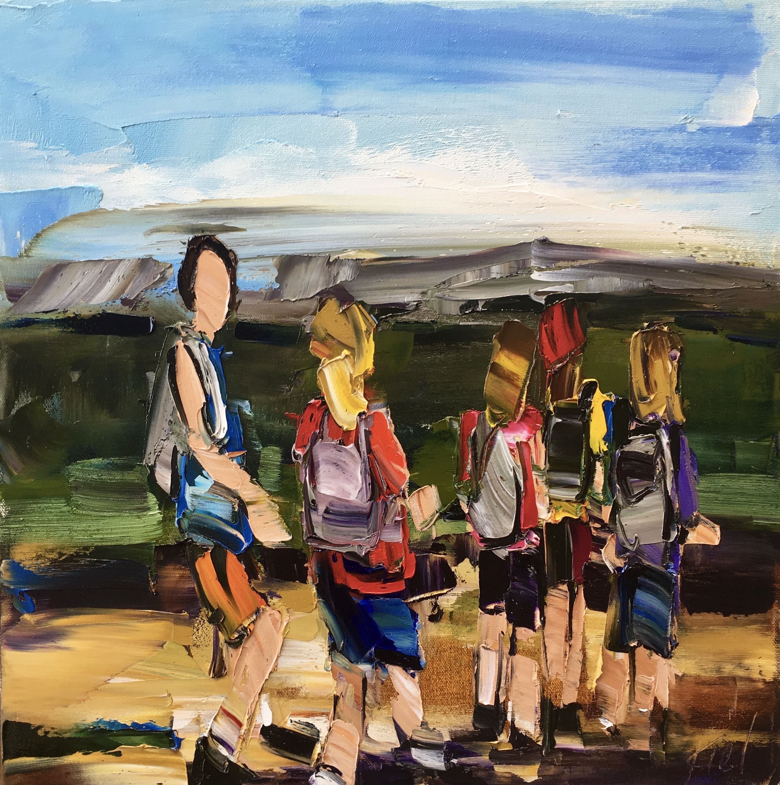 Every Summer Has Its Own Story 1, oil painting by Kimberly Kiel | Effusion Art Gallery + Cast Glass Studio, Invermere BC