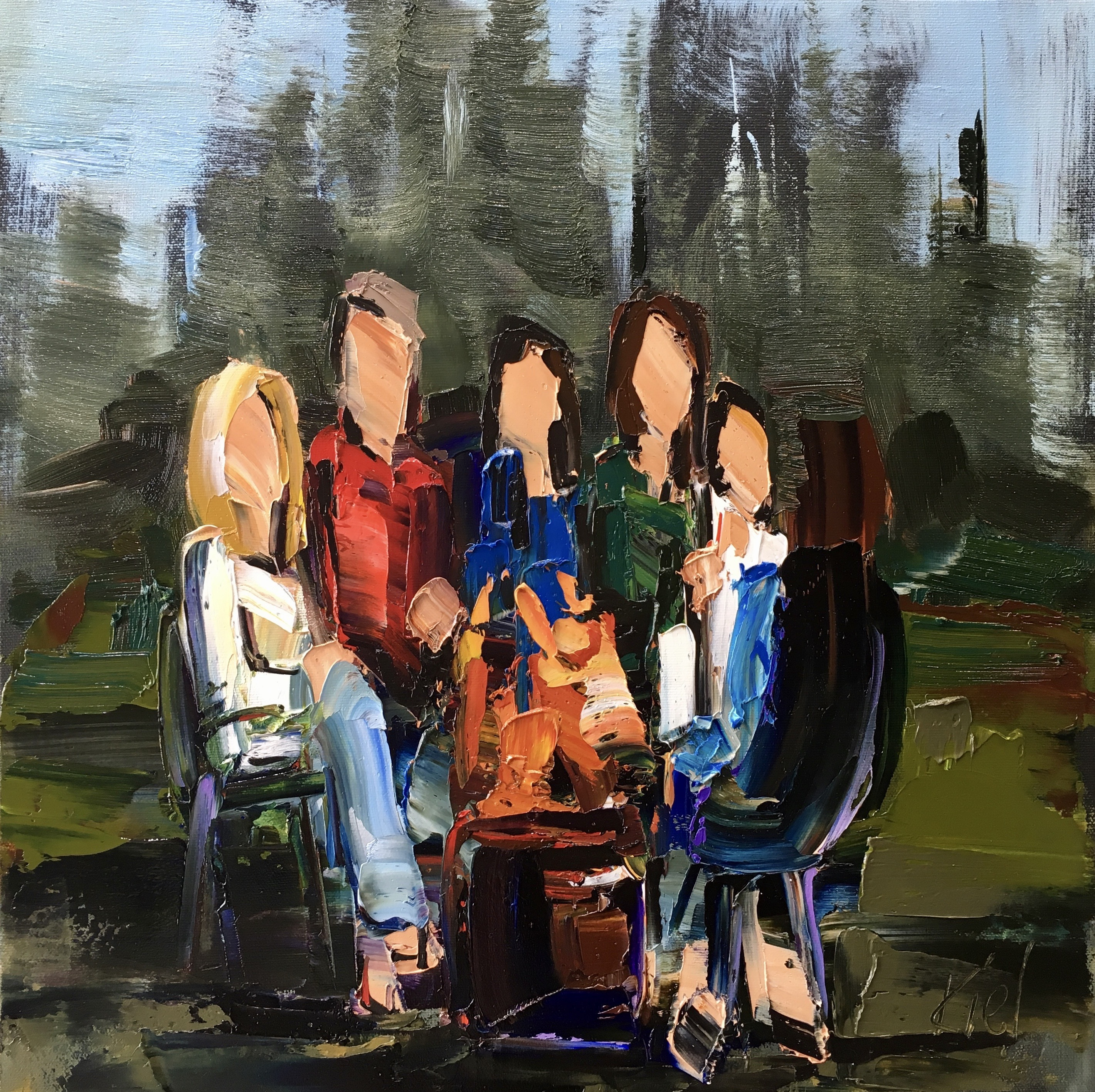 Every Summer Has Its Own Story 3, oil painting by Kimberly Kiel | Effusion Art Gallery + Cast Glass Studio, Invermere BC