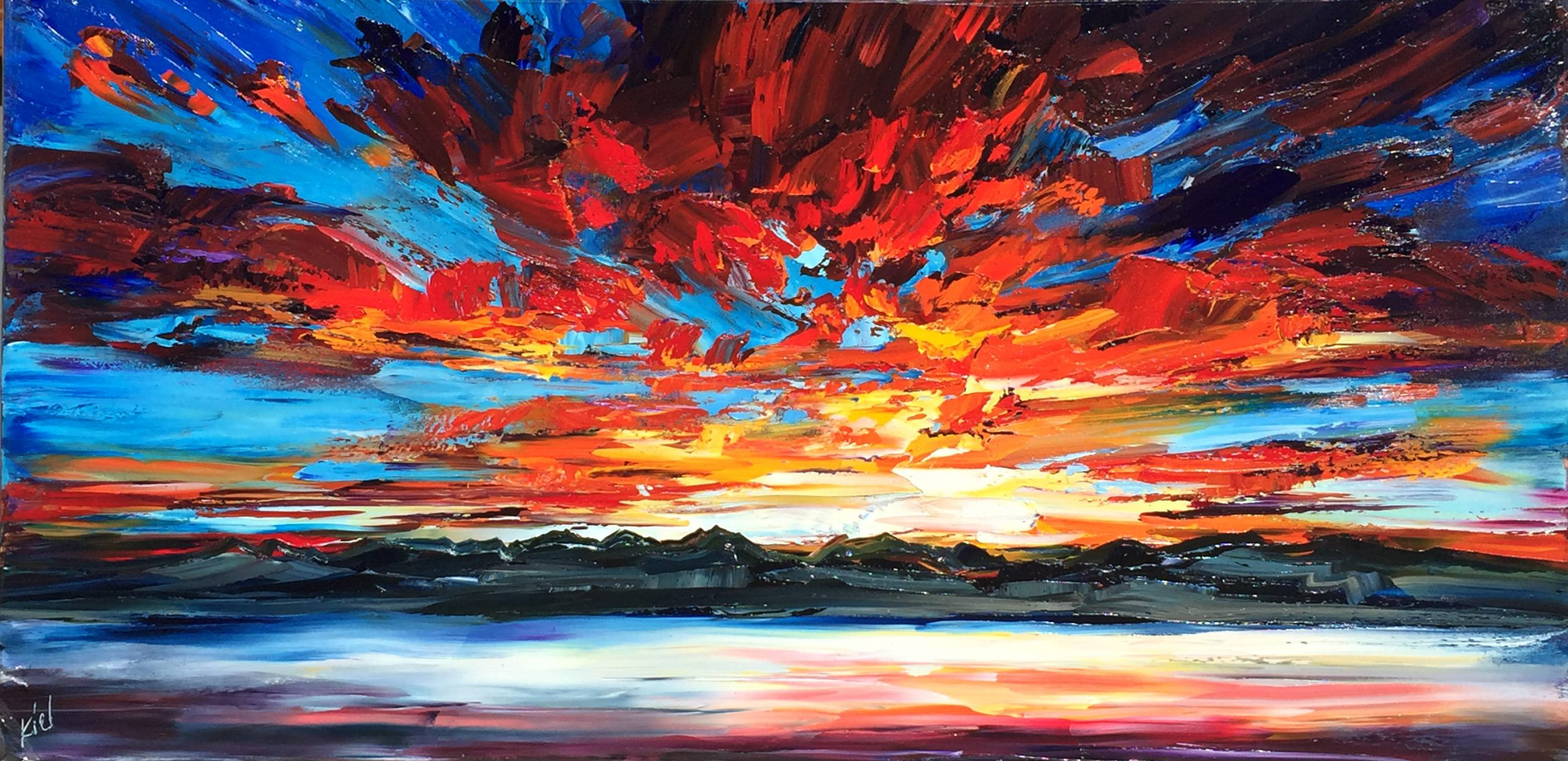 Side Effects, oil painting by Kimberly Kiel | Effusion Art Gallery + Cast Glass Studio, Invermere BC