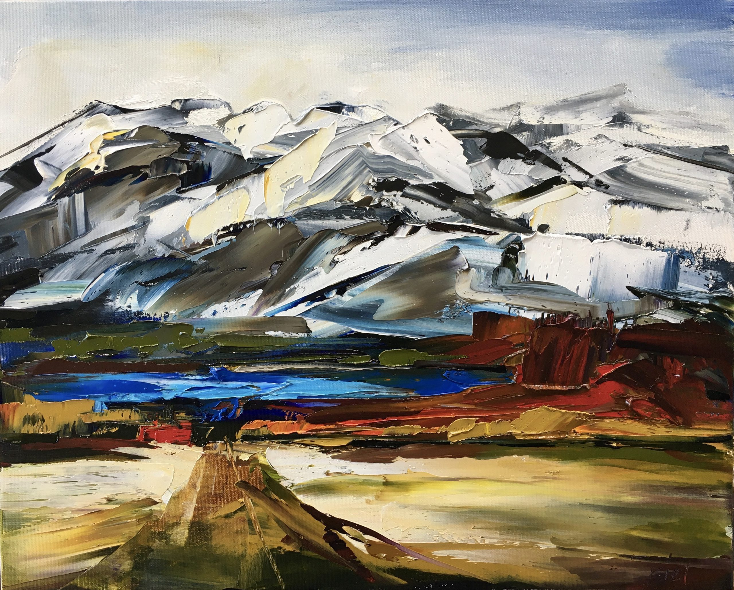 Taking the Long View, oil painting by Kimberly Kiel | Effusion Art Gallery + Cast Glass Studio, Invermere BC