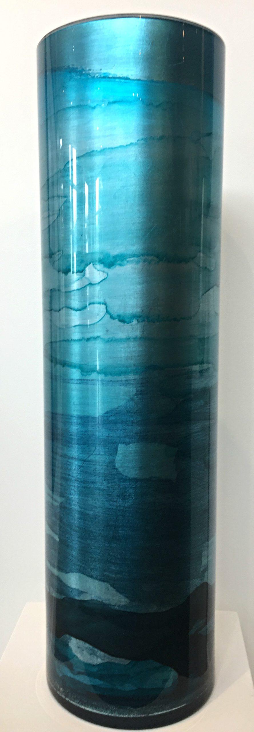 Blue Gilded Vase by David Graff | Effusion Art Gallery + Cast Glass Studio, Invermere BC