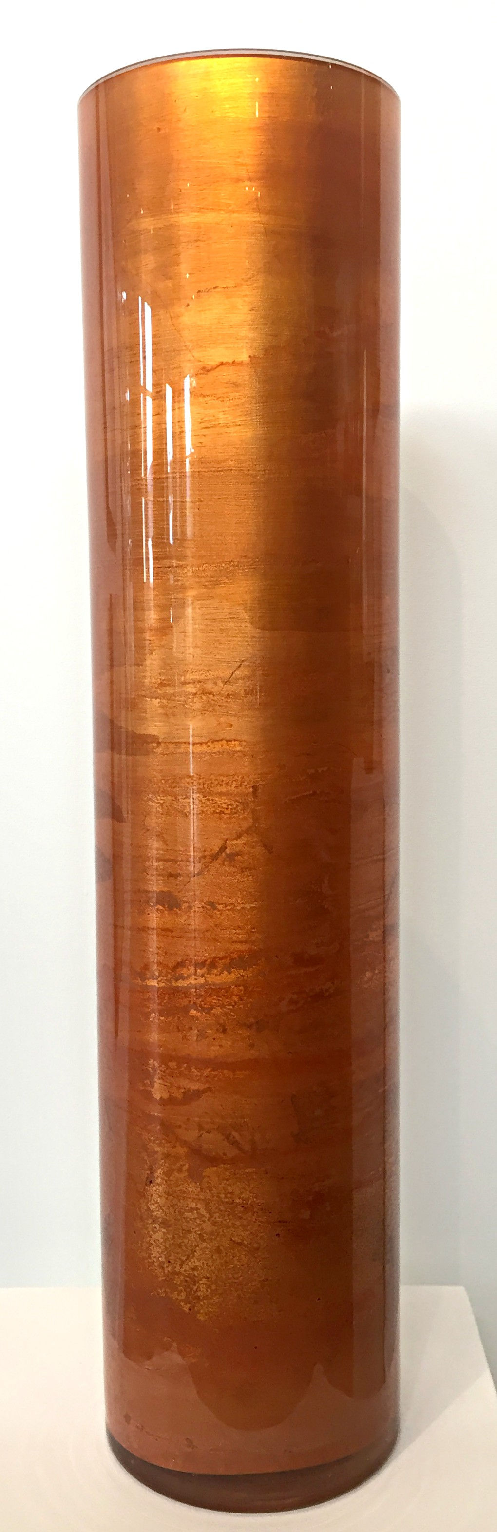 Orange Gilded Vase by David Graff | Effusion Art Gallery + Cast Glass Studio, Invermere BC