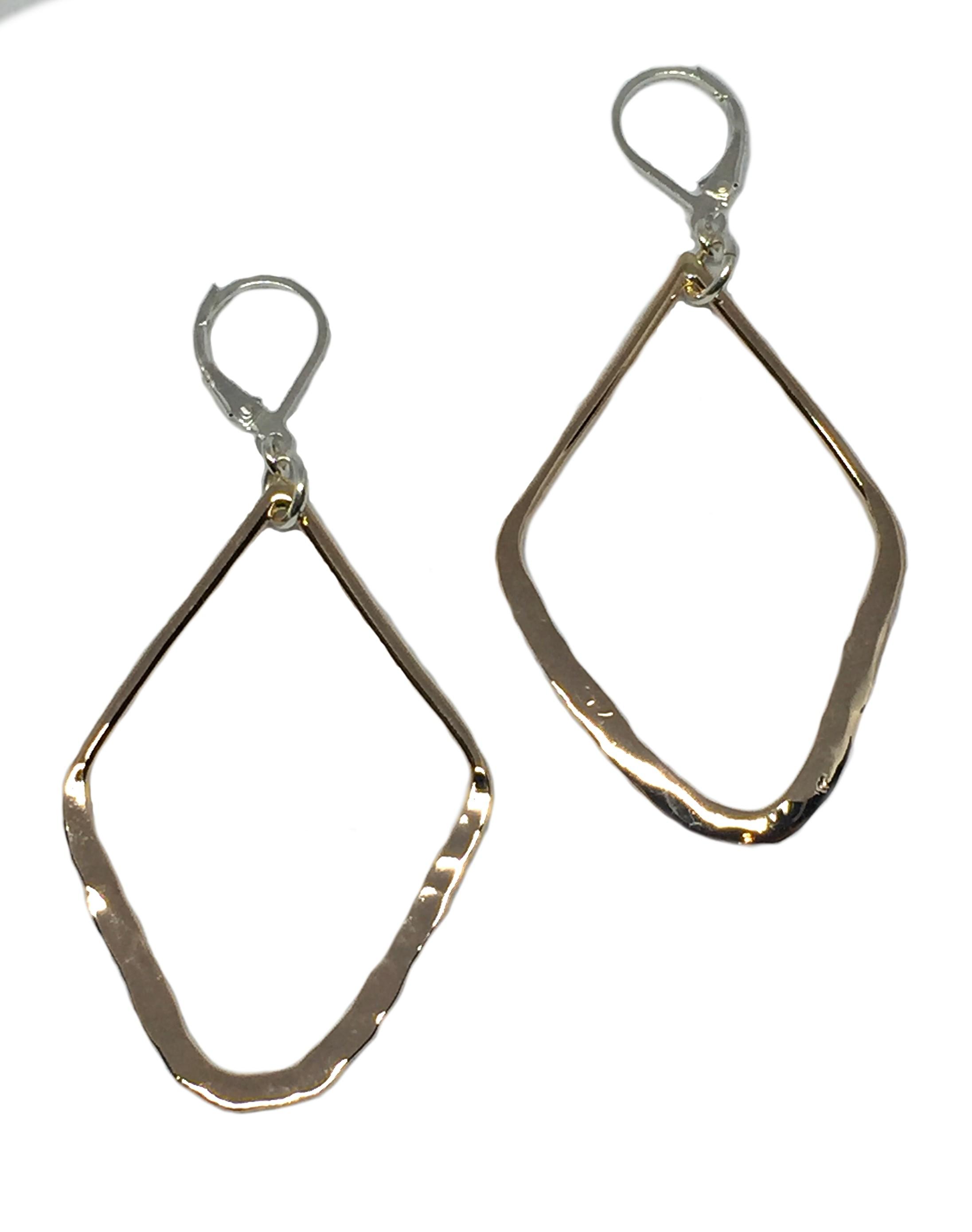 Bronze earrings by Karyn Chopik | Effusion Art Gallery + Cast Glass Studio, Invermere BC