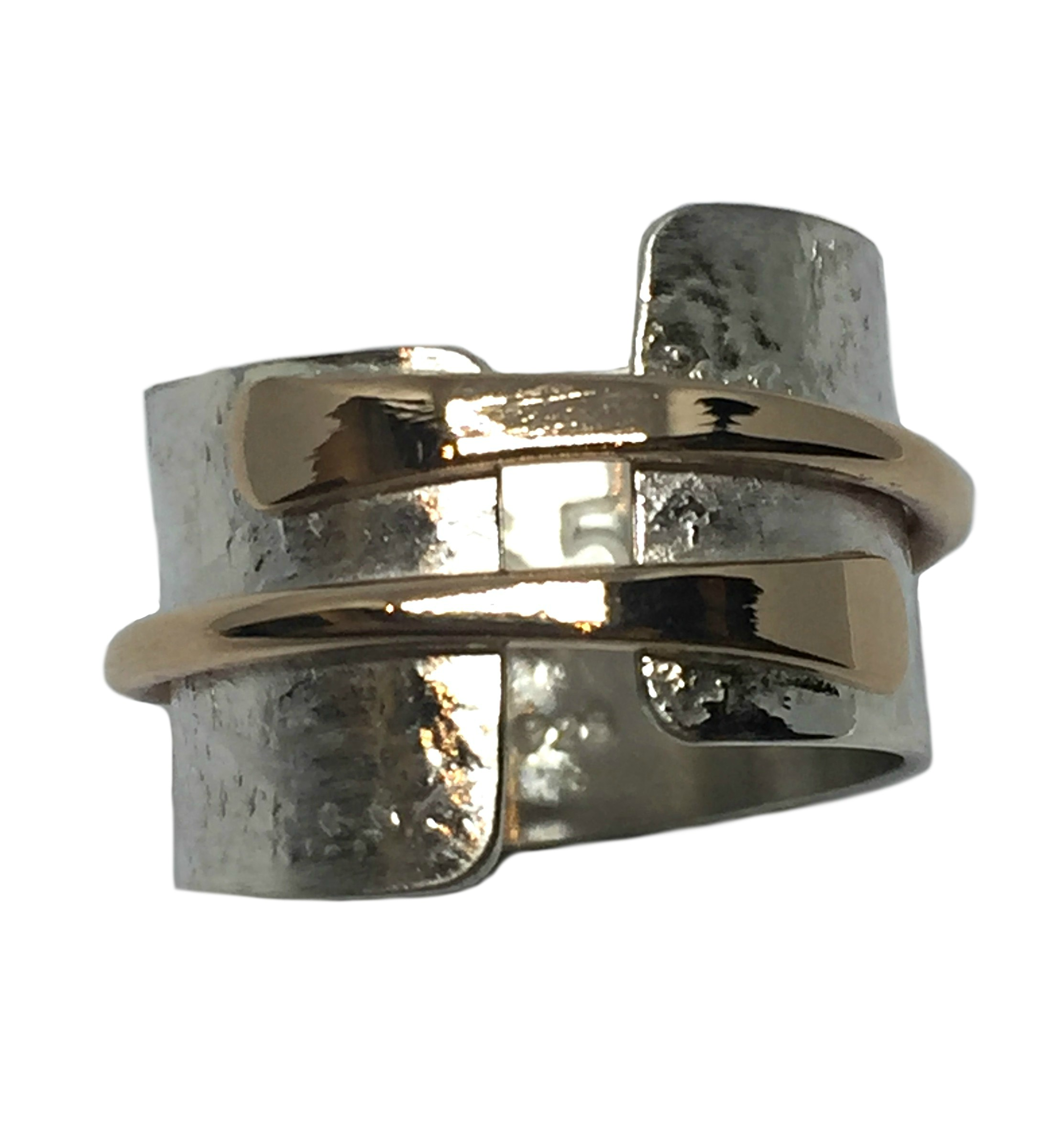 Silver and Bronze Karyn Chopik Ring | Effusion Art Gallery + Cast Glass Studio, Invermere BC