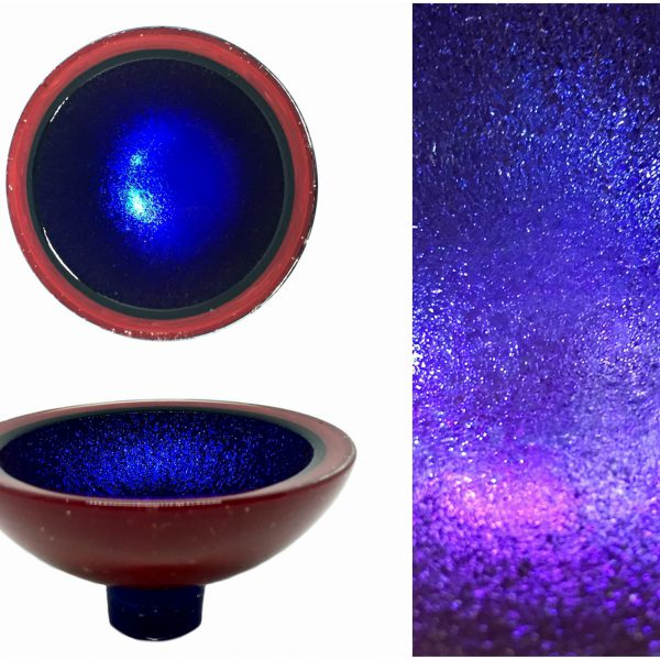 Multichrome Thing of Beauty 1931, dichroic glass bowl by Jo Ludwig   Effusion Art Gallery + Glass Studio, Invermere BC