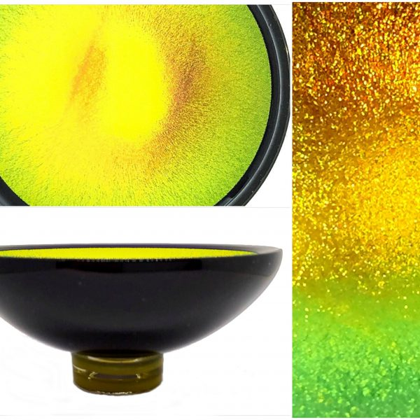 Multichrome Thing of Beauty 3053, dichroic glass bowl by Jo Ludwig   Effusion Art Gallery + Glass Studio, Invermere BC