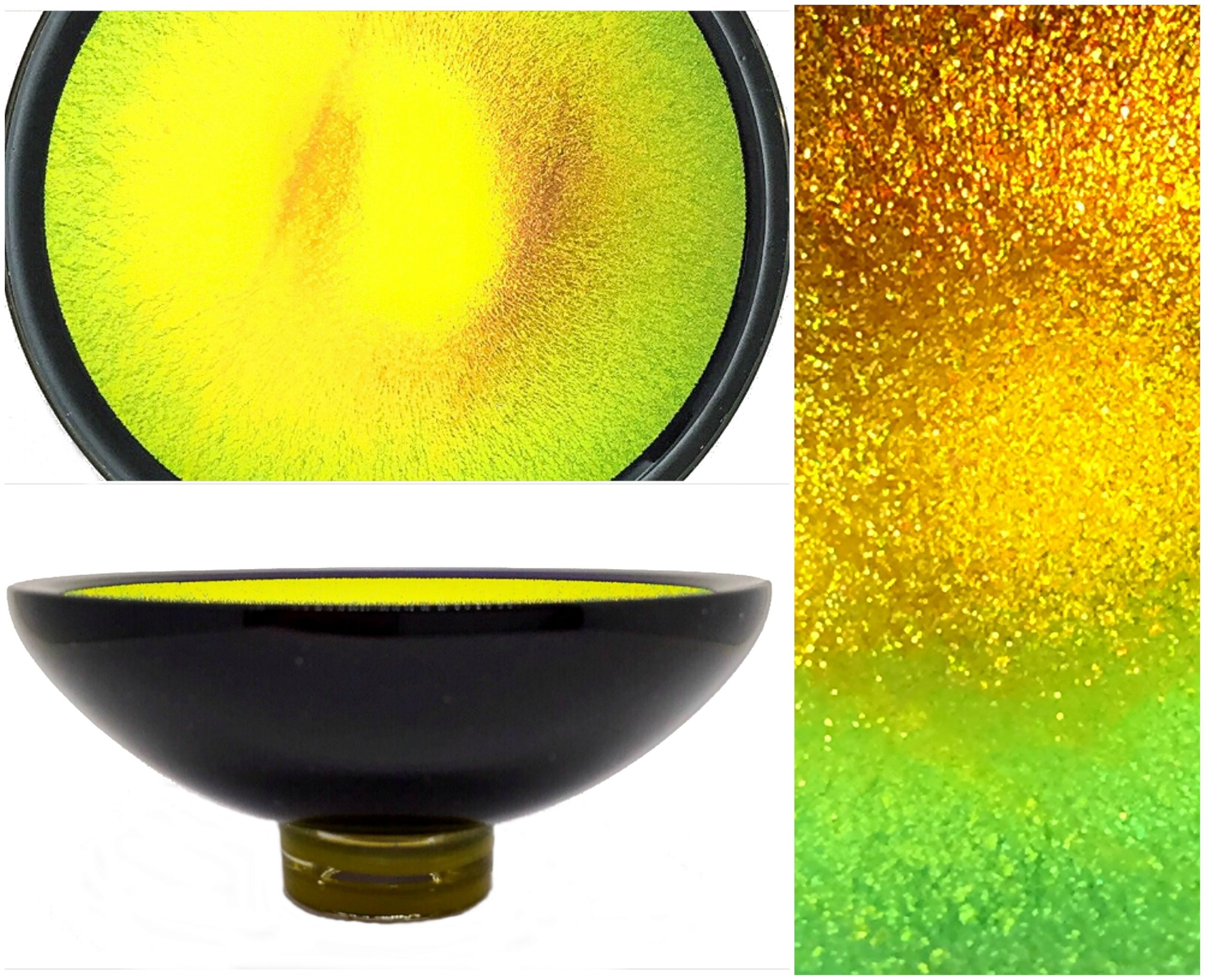 Multichrome Thing of Beauty 3053, dichroic glass bowl by Jo Ludwig | Effusion Art Gallery + Glass Studio, Invermere BC